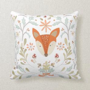 Whimsical Woodland Fox Cushion