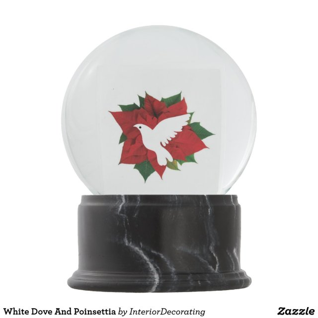 White Dove And Poinsettia