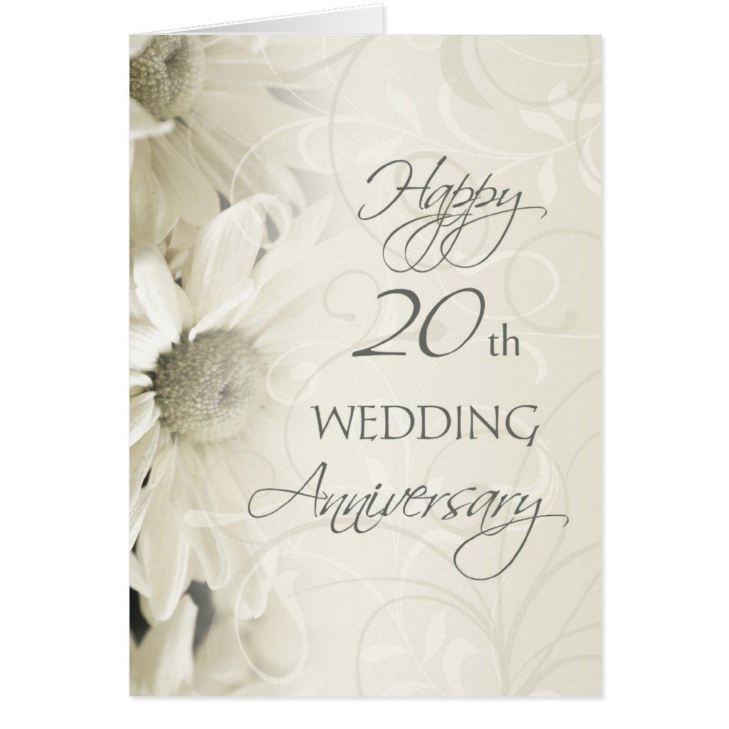 Happy 20th Wedding Anniversary Card