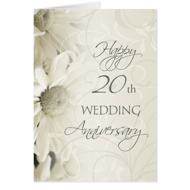 Happy 20th Wedding Anniversary Card