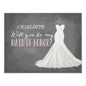 Will You Be My Maid of Honour | Bridesmaid Invitation