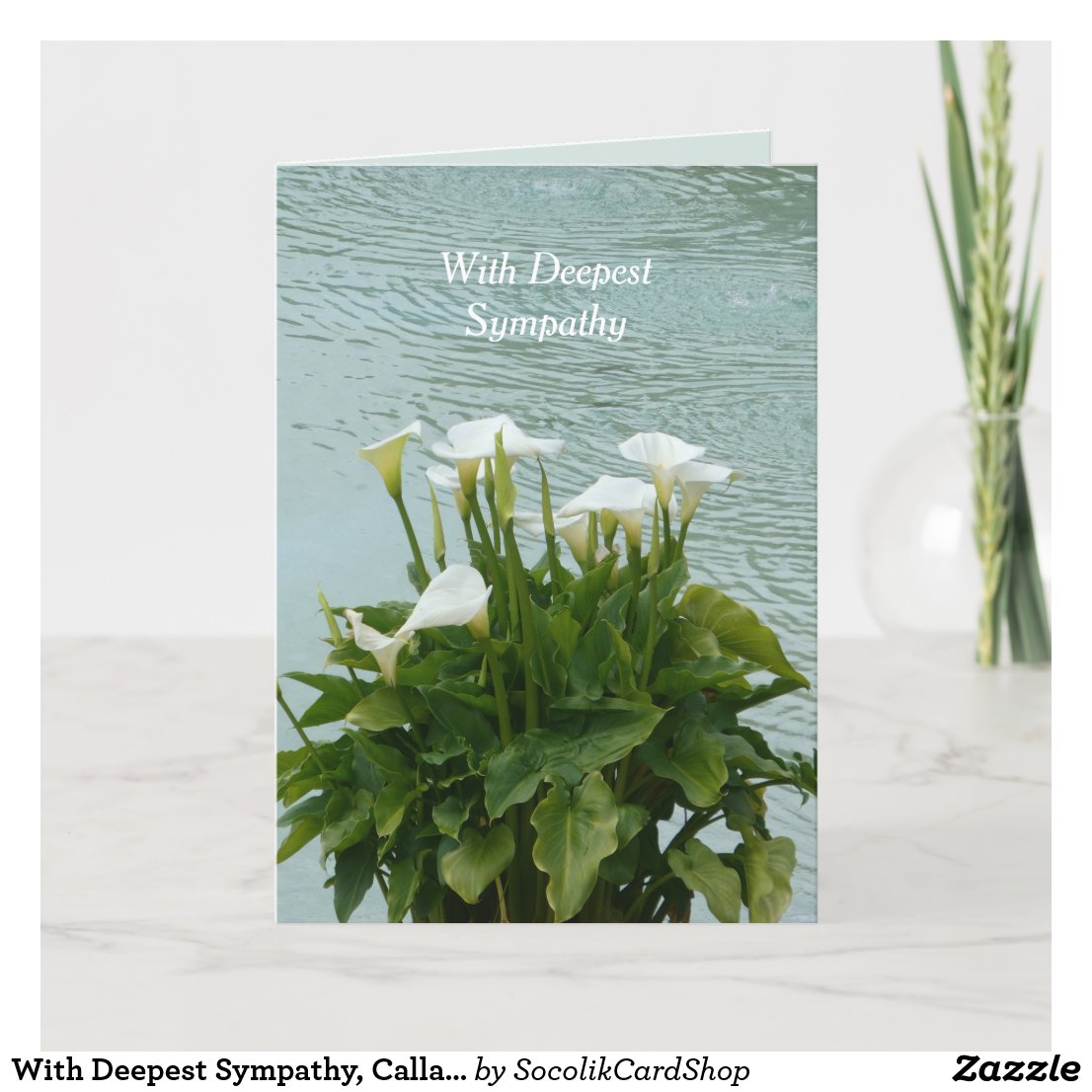 With Deepest Sympathy, Calla Lilies Card
