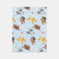 Woodland Animals unisex baby fleece blanket