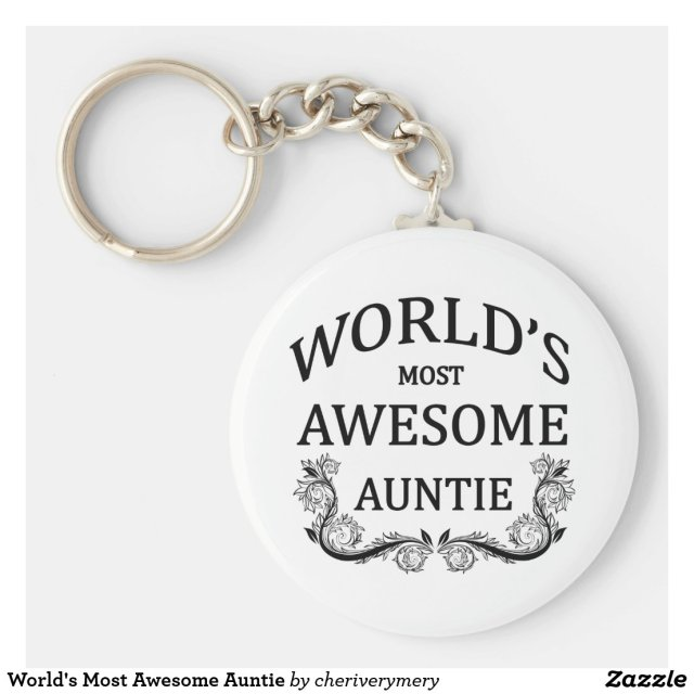 World's Most Awesome Auntie Keyring