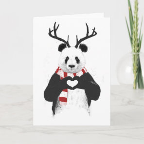 Xmas panda holiday card