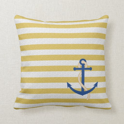 Strip Nautical Pillow