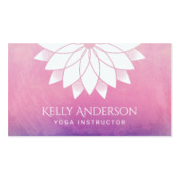 Yoga Instructor Modern Lotus Floral Mandala Business Card