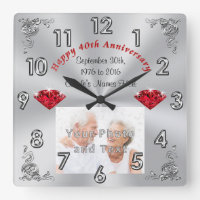 40th Anniversary Wall Clock