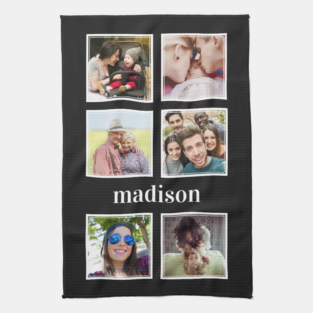 YOUR photos, name & colour kitchen towel