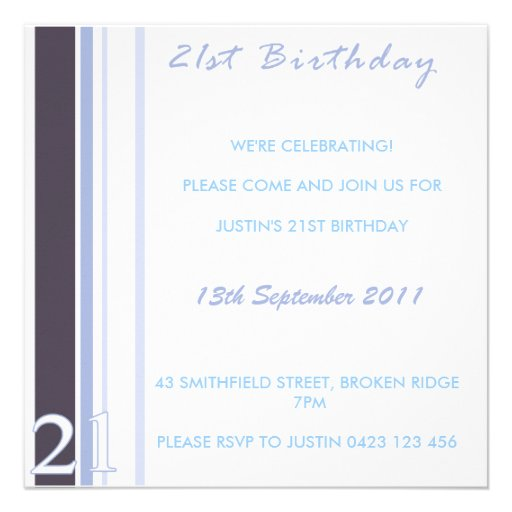 Custom Invitations 21st Birthday
