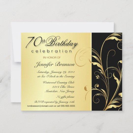 70th Birthday Surprise Party Invitations Zazzle Com Au