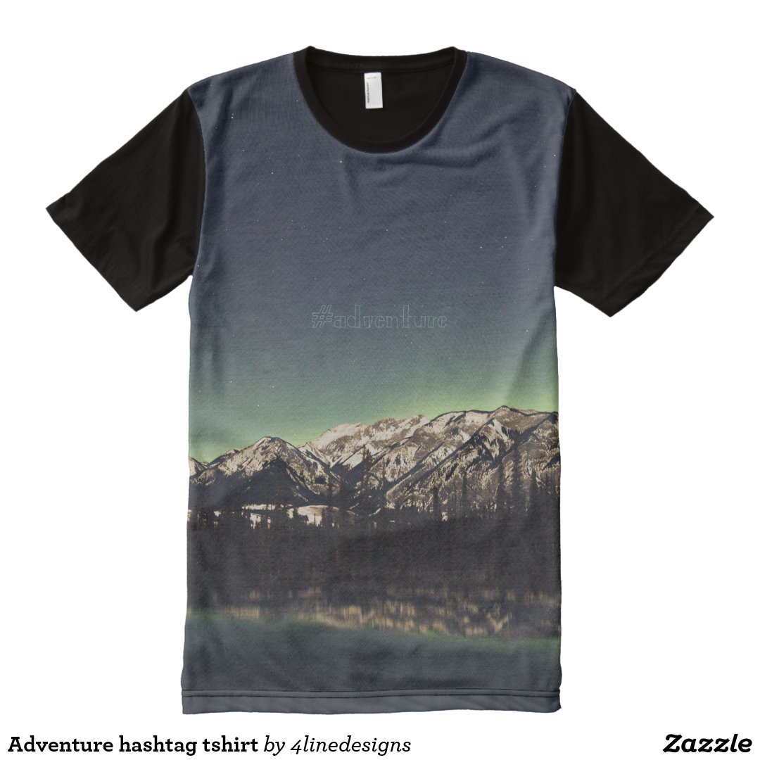 Adventure hashtag tshirt All-Over print T-Shirt