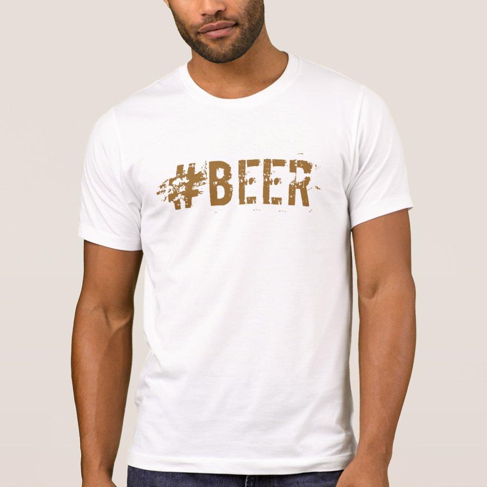 Beer hashtag tshirt