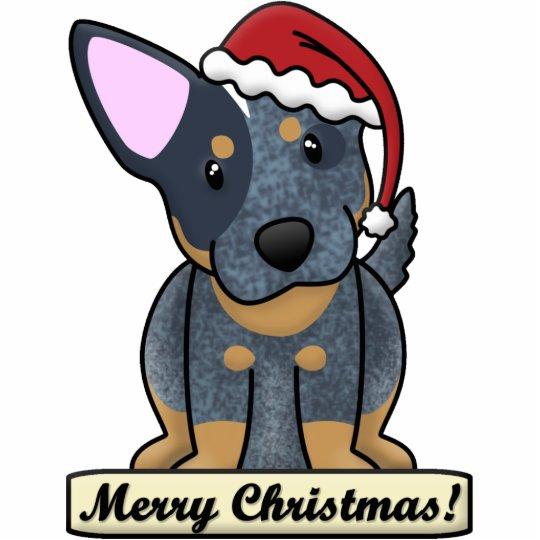 Cartoon Blue Heeler Christmas Ornament Photo Sculpture