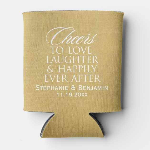 Download Cheers to love laughter happily ever after Wedding | Zazzle