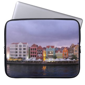Curacao: Willemstad in purple Dusk Computer Sleeve