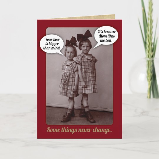 Funny Vintage 1920s Older Sister Birthday Card Zazzle Com Au