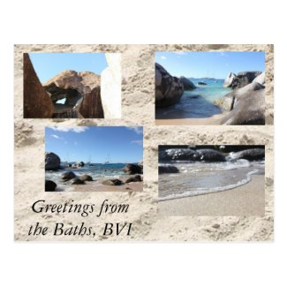 Greetings from the Baths, British Virgin Islands Postcards