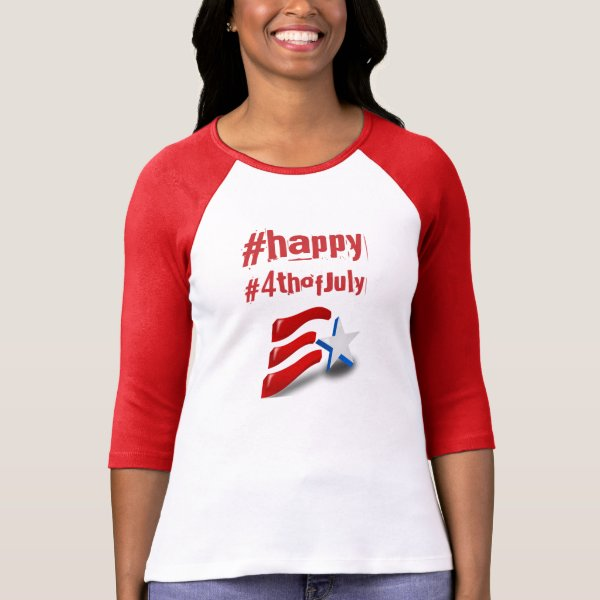 Happy 4th of July hashtag tshirt