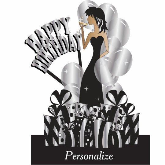 Happy Birthday Diva Girl Diy Name Silver Standing Photo Sculpture Zazzle Com Au