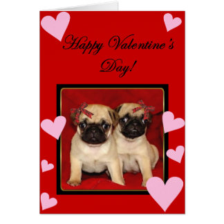 Valentines Day Pug Cards Invitations Photocards Amp More