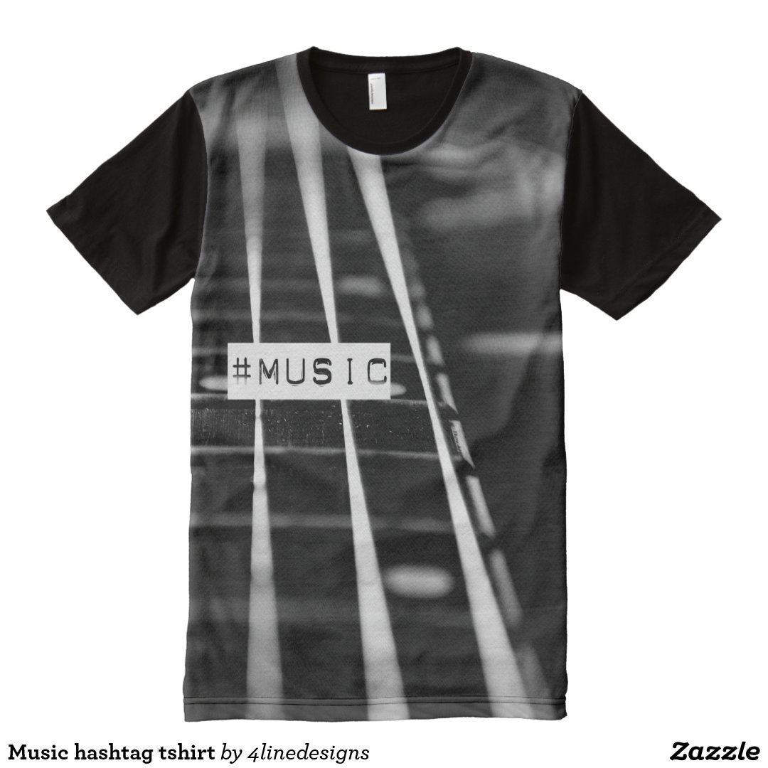 Music hashtag tshirt All-Over print T-Shirt