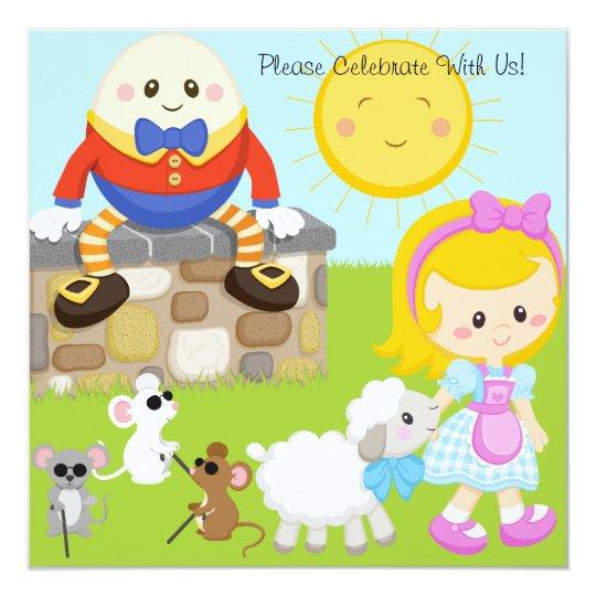 Nursery Rhymes Customised Birthday Invitations Au