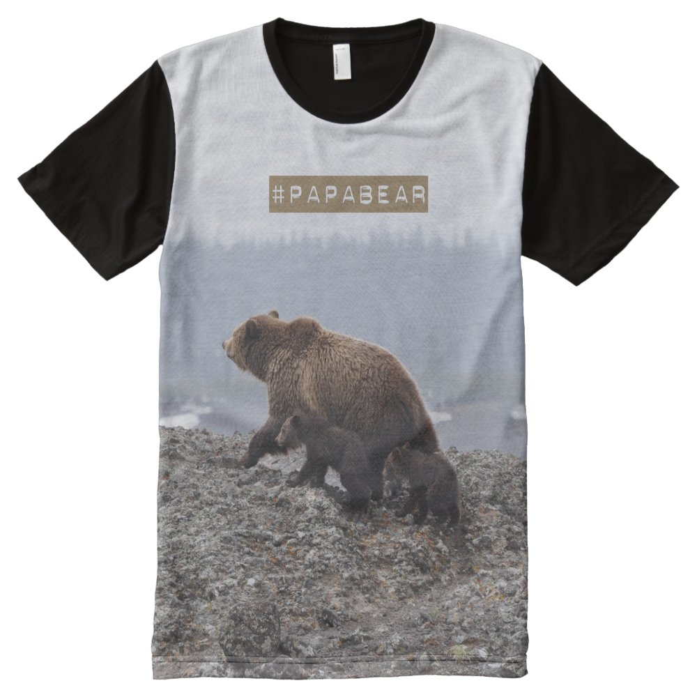 PapaBear hashtag tshirt All-Over Print T-Shirt