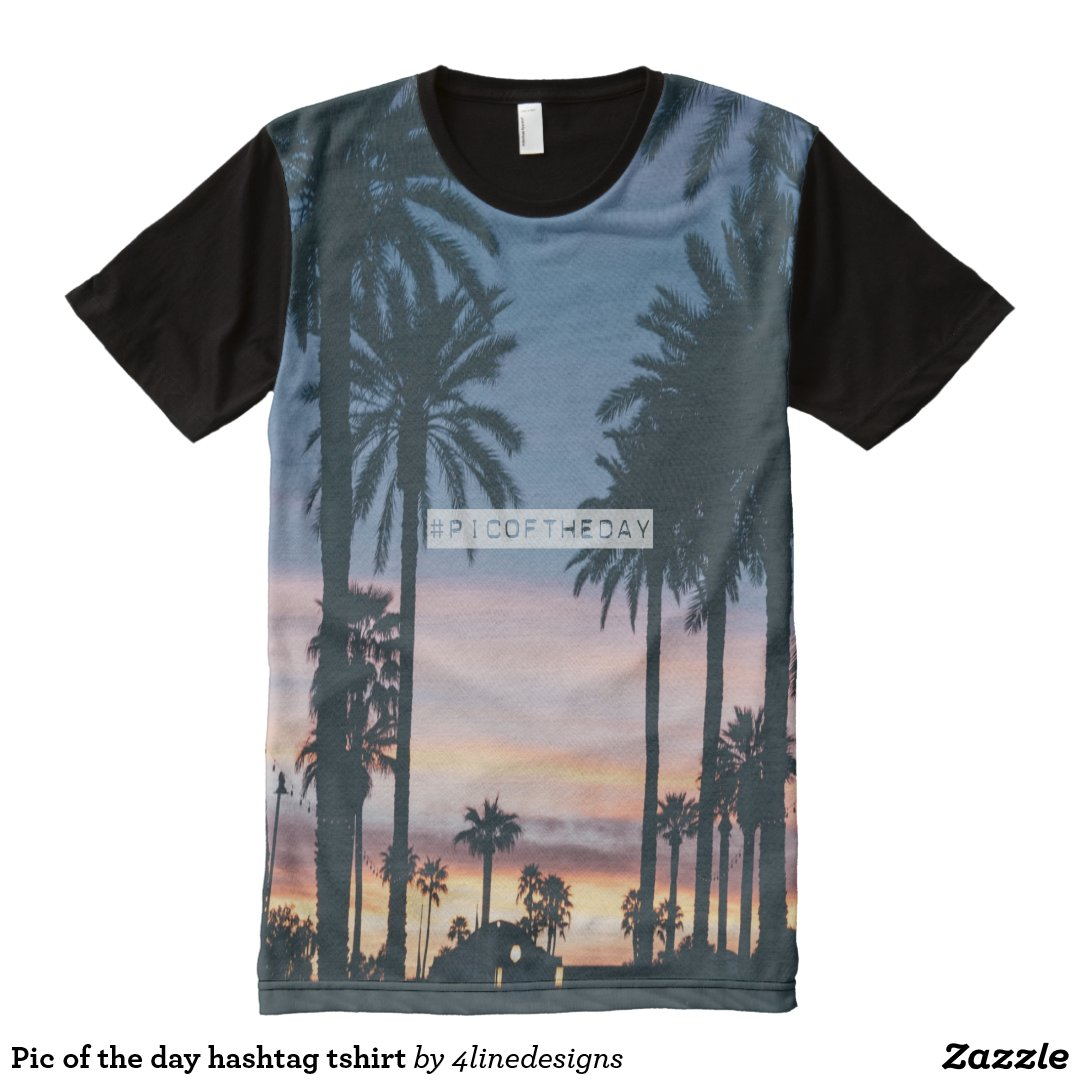Pic of the day hashtag tshirt All-Over print T-Shirt