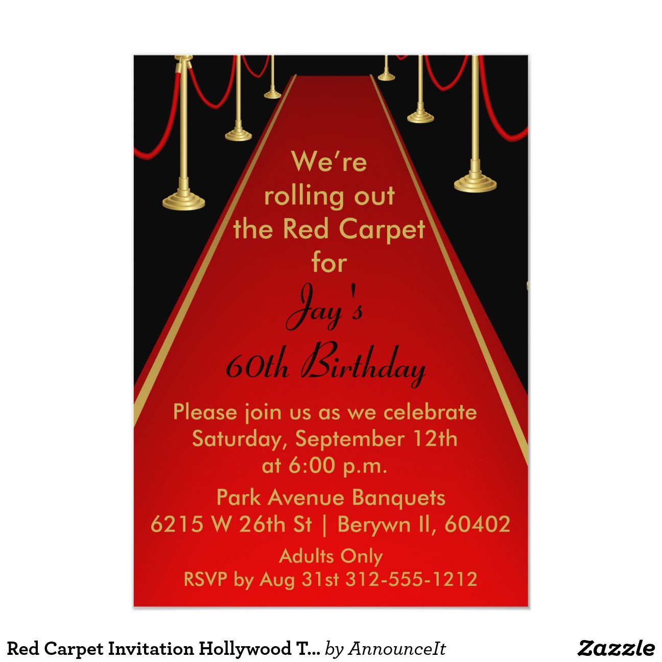 Amazing Hollywood Themed Birthday Party Invitations Gallery ...