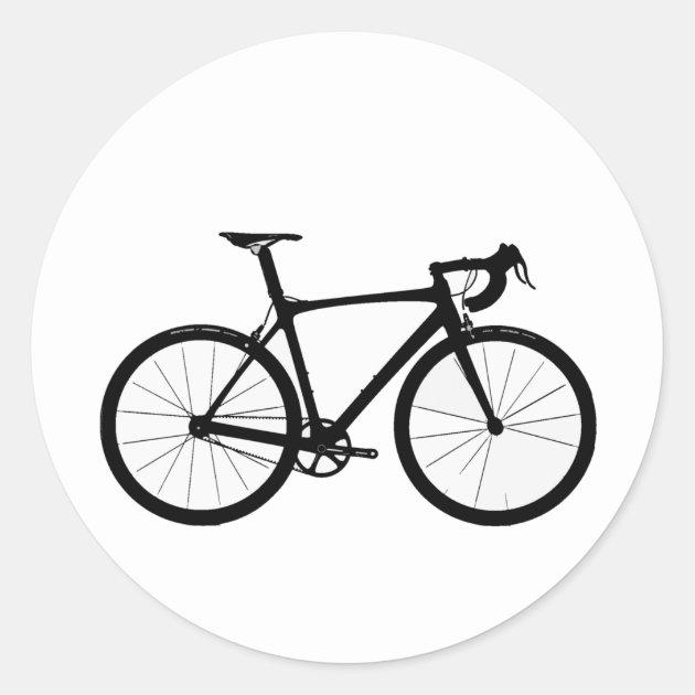 Road Bike Logo Classic Round Sticker Au