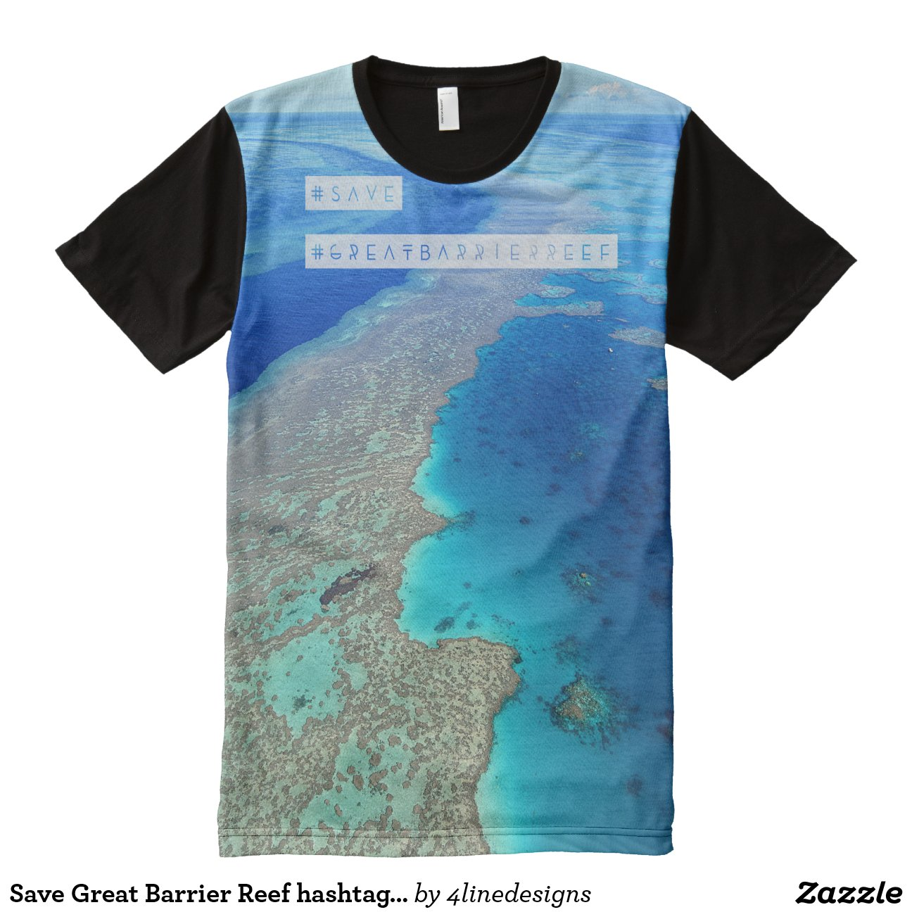 Save Great Barrier Reef hashtag tshirt All-Over Print T-Shirt