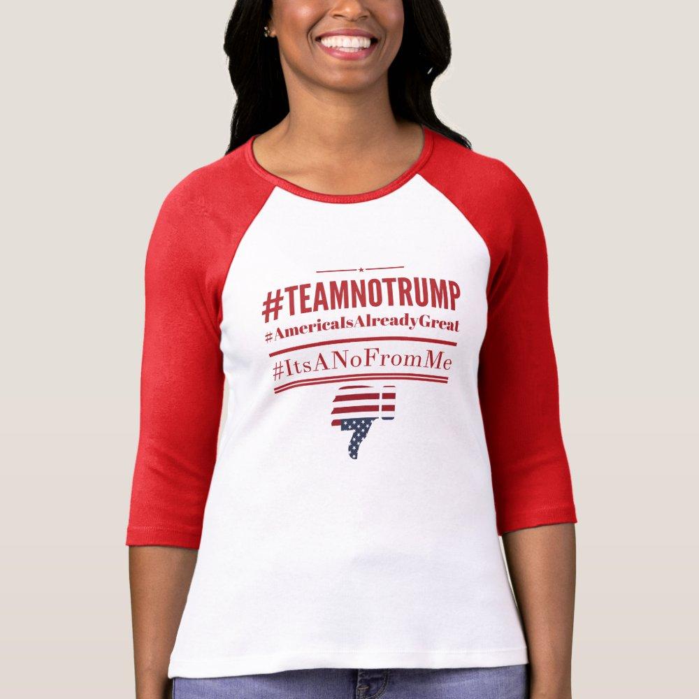 Team No Trump hashtag tshirt