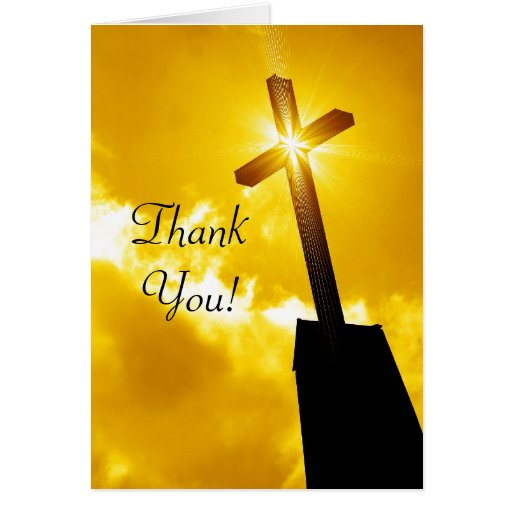 Thank You Religious Greeting Card Zazzle