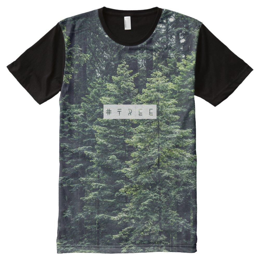 Tree hashtag tshirt All-Over print T-Shirt