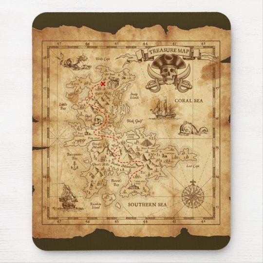 Vintage Old Pirate Treasure Map X Marks The Spot Mouse Pad Zazzle Com Au
