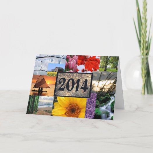 Ano novo feliz 2014 cartão