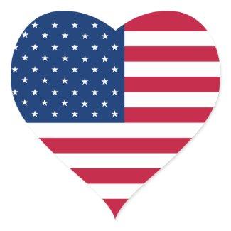 Etiqueta do coração da bandeira dos EUA Adesivos