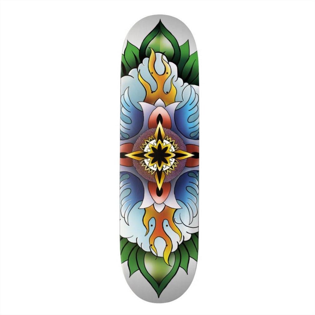 Forma elementar do skate da mandala