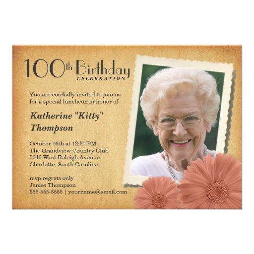 100th birthday celebration invitations filmwisefo