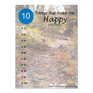 10 Things that make me Happy - Fall Card