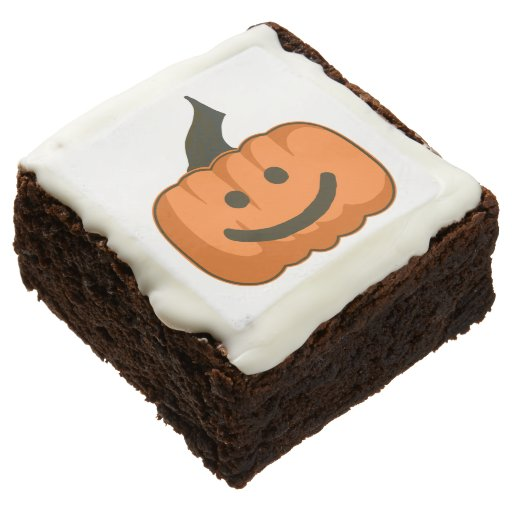 12 Smile-O-Lantern Brownies