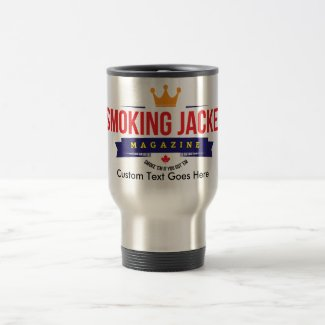 15 oz Travel Mug with Smoking Jacket Magazine Logo