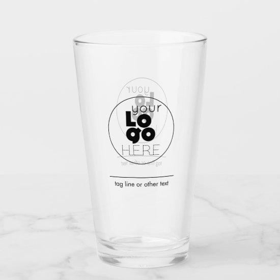 16 oz Custom Pint Glass with Your Logo No Minimum