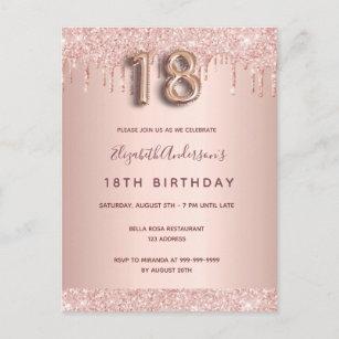 18th Balloons Birthday Invitations Zazzle