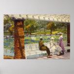 1915 Lily Pond, City Park, Denver, Colorado Poster
