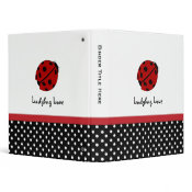 "1"" Personalized Ladybug Love Binder"