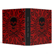 "1"" Red Rage Skull Binder"