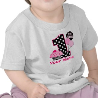 1st Birthday Cupcake Zebra Personalized Shirt