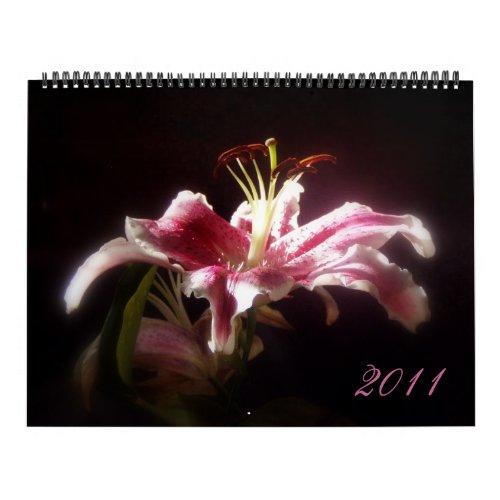 2011 Stargazer Lily Calender calendar